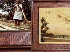 Horak Kaanpali pohaku Hawaii Rattan Frame