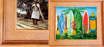 Jaquelynne Mauvais Surfboard Fence Kauai Rattan Frame Website