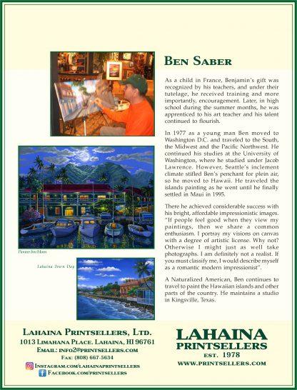 Lahaina Printsellers Artist Bio's Ben Saber