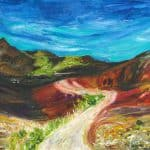 MR Paintbrush & Sky Haleakala 12x16