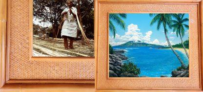 Richard Fields Kapalua Bay Kauai Rattan Frame